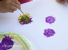 Dandelion Painting - several good ideas on this site :)