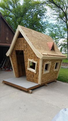 Playhouse for kids under construction