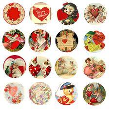 Folie du Jour: Valentine bottle cap images / digital collage sheet