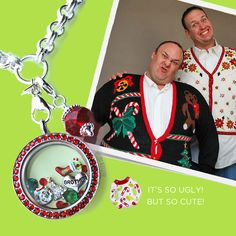 #UglyChristmasSweater #Charm from #OrigamiOwl Living #Lockets. #Christmas #Gifts for all! Follow HEIDI KELLER on #Facebook http://www.fb.com/kellercharm #ChristmasParty Ugly Christmas Sweater Party
