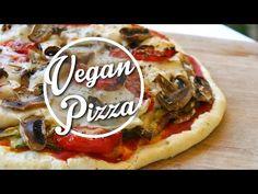 Pizza au faux-mage maison!! Rapide et facile - végétalien- ♡ - YouTube