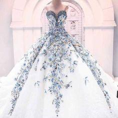 Imagem de dress, white, and blue