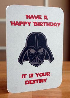 Tarjetas de cumpleaños de Star Wars. Visita mi blog para ver más! http://www.invitacionesde.com