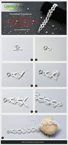 Pandahall Tutorial on How to Make Crystal Glass Bead and Seed Bead Bracelets