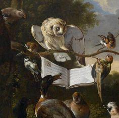 Melchior de Hondecoeter - 'The Concert of Birds' ( Detail )