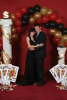 Vegas Prom Themes | DIAMONDS ARE FOREVER BLACK TIE AFFAIR HOLIDAY ARCH