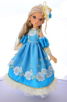 """SOLD """"The Gardens in the Afternoon""""Dress,Outfit,Clothes for 18""""Kaye Wiggs MSD BJD #ClothingAccessories"""