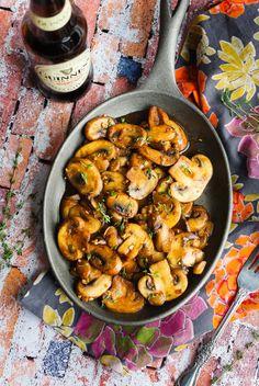 Sauteed Guinness Mushrooms