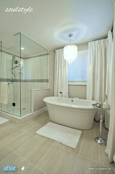 Check out this lovely neutral bathroom renovation! Lovely changes to make a beautiful spa like bathroom! Neutral Bathroom, Spa Like Bathroom, Bathroom Floor Tiles, Bathroom Renos, Bathroom Renovations, Small Bathroom, Bathroom Ideas, Master Bathroom, Design Bathroom