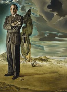 Salvador Dalí, Portrait of Marquis George de Cuevas, 1942 on ArtStack #salvador-dali-1 #art