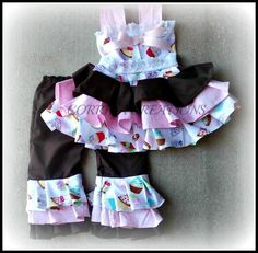 OTT Cupcake Pageant, OOC Wear, Capri Set  https://www.etsy.com/listing/152595257/boutique-style-ott-ruffle-capris-set?ref=shop_home_active
