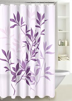 Fabric Shower Curtain Multicolor Forest Leaves with Reinforced Grommets, Skull Shower Curtain, Shower Curtain Rods, Ruffle Shower Curtains, Bathroom Shower Curtains, Types Of Furniture, Furniture Decor, Cube Design, Modern Baths, Retro Fabric