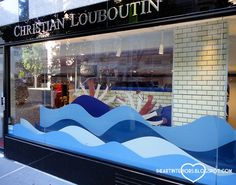 i heart interiors: Christian Louboutin - Swim Club Window Display