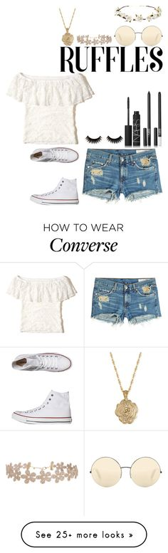 """Untitled #102"" by kammmmmmxp on Polyvore featuring Hollister Co., 2028, Victoria Beckham, Humble Chic, Cult Gaia, rag & bone, NARS Cosmetics and Converse"