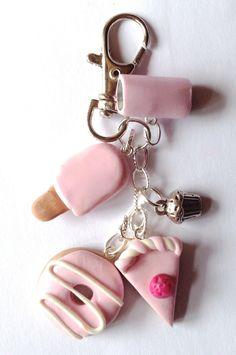 porte clé ou bijou de sac gourmand : Porte clés par bijoushop