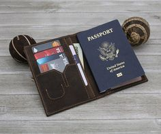 Unique Gifts For Men, Gifts For Boss, Leather Passport Wallet, Leather Wallet, Leather Workshop, Passport Cover, Travel Accessories, Document Holder, Ajouter