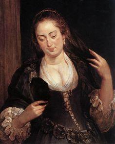 Peter Paul Rubens - Woman with a Mirror - WGA20336 - Peter Paul Rubens/1635–1640 - Wikimedia Commons