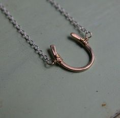 Lucky Horseshoe Necklace: Love (pinned for) the charm, but HATE the chain