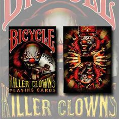 Bicycle #killer clowns playing cards collectable playing cards #magic #trick deck,  View more on the LINK: http://www.zeppy.io/product/gb/2/351772438402/