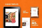 eBook Template - PowerPoint Template by rivatxfz Graphic Design Templates, Modern Graphic Design, Keynote Template, Brochure Template, Cookbook Template, Homemade Carnival Games, Design Brochure, Recipe Binders, Cover Template
