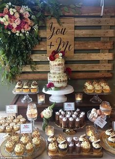 50 Delightful Wedding Dessert Display and Table Ideas - Page 26 of 50 - SooPush - Wedding - Dessert table, dessert ideas, wedding dessert, sweet wedding - Diy Dessert, Buffet Dessert, Dessert Bar Wedding, Dessert Table Decor, Sweet Table Wedding, Cupcake Wedding Display, Candy Bar Wedding, Cupcake Display, Rustic Wedding Cupcakes