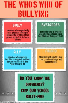 Interactive PDF: School Environment and Bullying Prevention. Includes free poster downloads, recommendations for schools, and links to resources!
