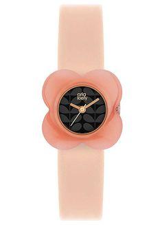 Ladies Pink Flower Watch by Orla Kiely