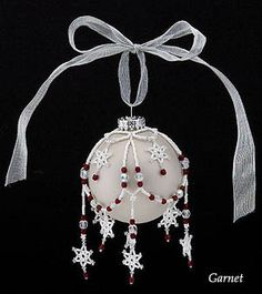 Beaded ornaments...have to get started on next season