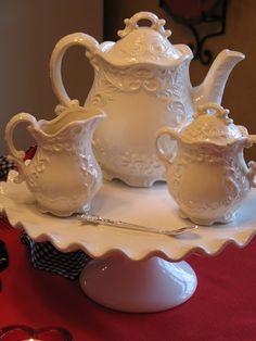 Milk Glass Tea Set                                                                                                                                                      More