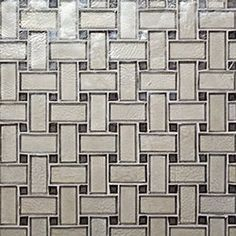"""Oceanside Glasstile...Collection Name: Facets...Color Name: Platinum Irid and Shadow Irid...Item Description: Super Lattice...Square Feet Per Sheet: 1.15...Sheet Size: 12 7/8"""" x 12 7/8""""...Thickness: 0.24""""...Sample Item Number: Contact Us"""