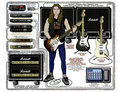 Stage set up of Iron Maiden's Dave Murray. Dave Murray, Iron Maiden, Music Guitar, Playing Guitar, Marshall Guitar, Famous Guitars, Fender American, Rock And Roll Bands, Guitar Effects Pedals