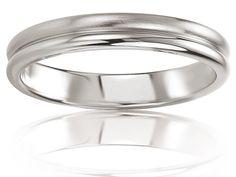 Alliance de mariage en Or 375/1000 - 9 K, Blanc, Alliance Breuning, 48/05628-56G9K