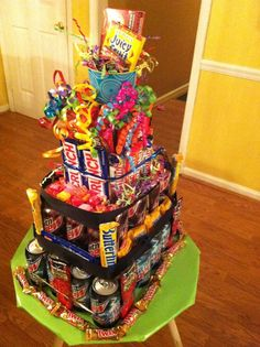 """Grayson's candy bar/ Mountain Dew """"cake"""" 