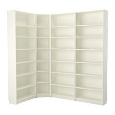 """IKEA - BILLY, Bookcase, white, 84 5/8/53 1/8x93 1/4x11 """", , Adjustable shelves can be arranged according to your needs.A simple unit can be enough storage for a limited space or the foundation for a larger storage solution if your needs change.Surface made from natural wood veneer.Narrow shelves help you use small wall spaces effectively by accommodating small items in a minimum of space."""
