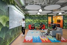 New Instacart Offices in San Francisco, California / Design Blitz Work Cafe, Modular Lounges, Interior Architecture, Interior Design, Open Office, Workplace Design, Co Working, Design Firms, Office Interiors