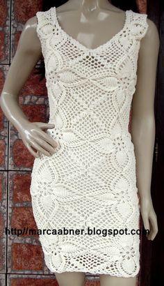 Marcinha crochet: crocheted dress REASON PINEAPPLE