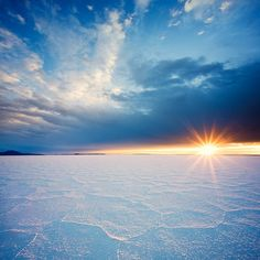 Bonneville Salt Flats at sunrise by megascapes