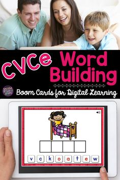 Looking for digital phonics activities for first grade or 2nd grade? Try these cvce Boom Cards! These digital task cards are great for a word work center or distance learning phonics practice. Self checking and fun magic e or silent e spelling activities for your class! Word Work Games, Word Work Centers, Learning Phonics, Teaching Vocabulary, Cvce Words, Teaching Second Grade, Common Core Ela, Word Building, Spelling Activities