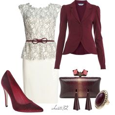 """Lace Peplum Dress"" by christa72 on Polyvore"