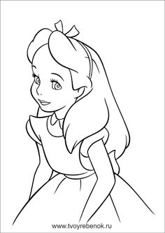 alice in wonderland, : beautiful alice and smiling cheshire cat in ... - Cheshire Cat Smile Coloring Pages