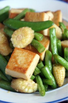Stir Fry Tofu and French Beans
