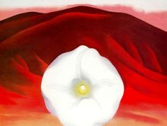 Red hills and white flower - Georgia O'Keeffe - WikiArt.org ...