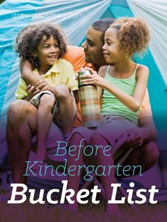Before Kindergarten Bucket List - Grown Ups Magazine - Make a fun bucket list (or use ours) to make the most of those preschool years!