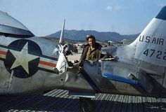 P-51 Mustang with extensive damage.