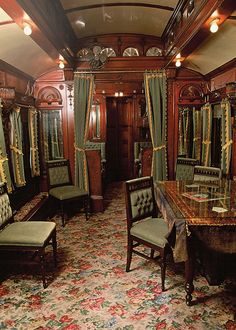 Private Railroad Car Interiors | interior pullman private car