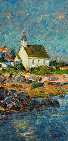 Port Au Persil by Raynald Leclerc, Oil on Canvas, Painting | Koyman Galleries