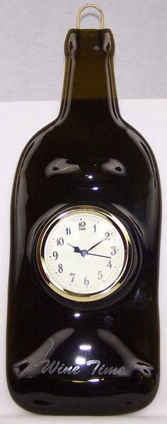 Wine Time Clock by WhimsicalSimplyGifts on Etsy, $39.99
