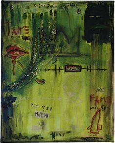 fake Basquiats by Ann Magnuson!