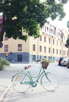 Cykel från Stålhästen finns även som mintgrön!