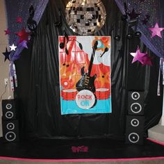 Party Karaoke Stage, also good ideas for a rock star salon, etc.